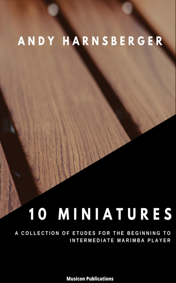 10 Miniatures Cover - closeup of marimba bars